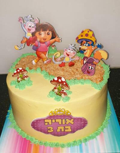 עוגת דורה ליום הולדת