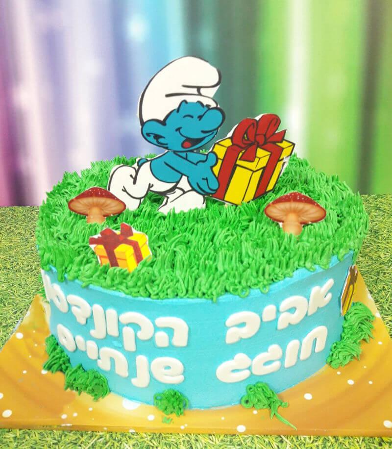 עוגת זילוף דרדסים ליום הולדת