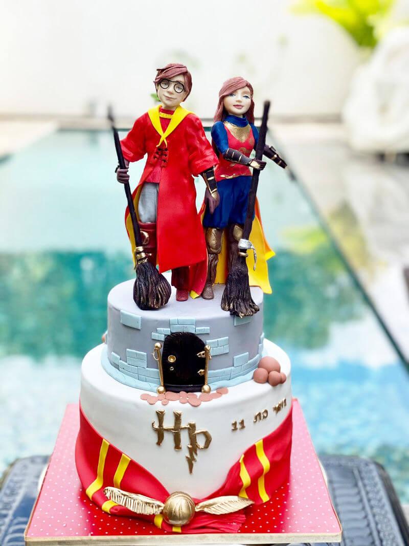 עוגת הארי פוטר מבצק סוכר