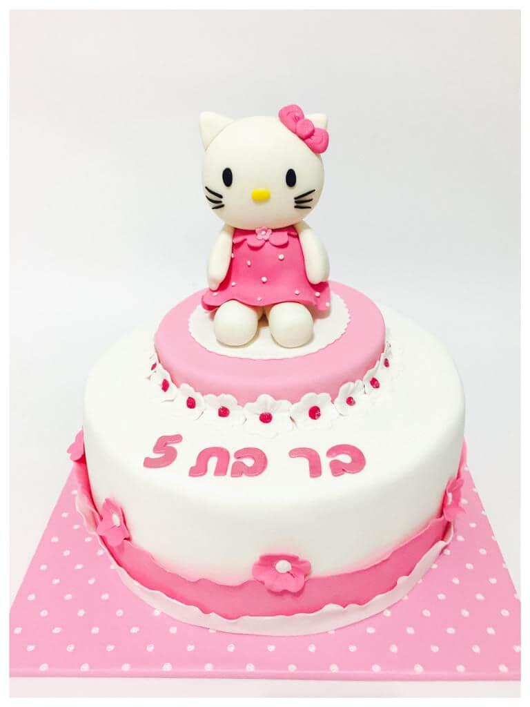 עוגת הלו קיטי כשרה מבצק סוכר