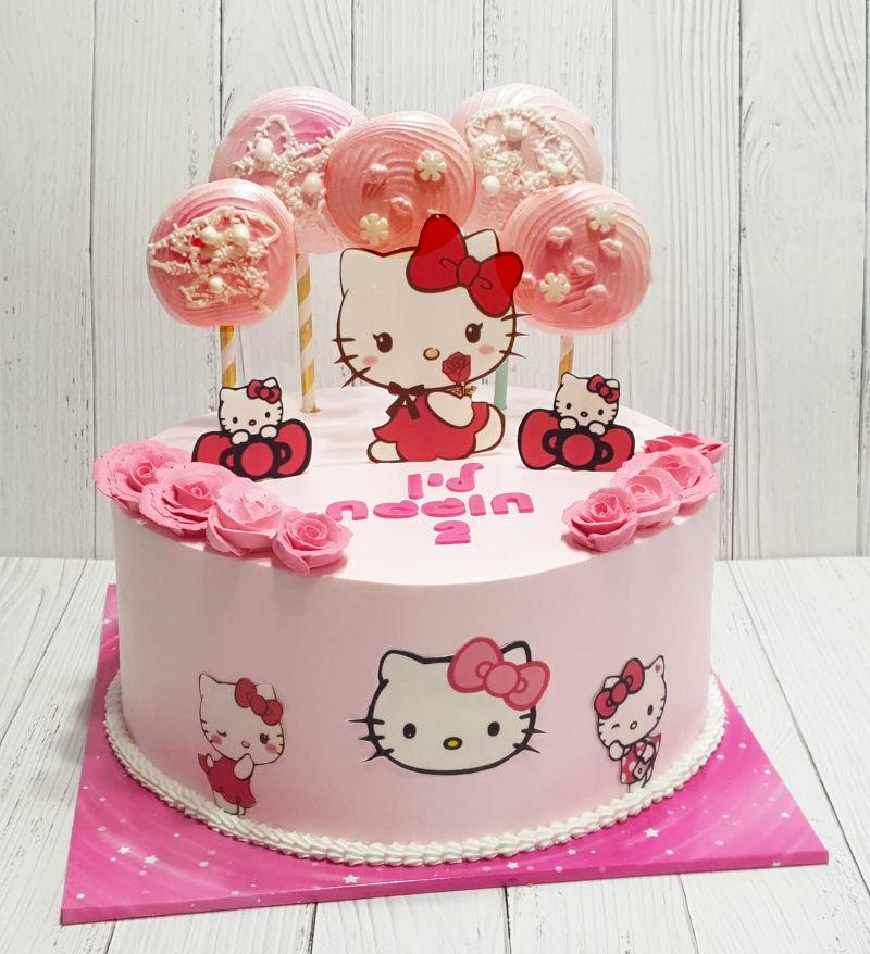 עוגת הלו קיטי מעוצבת