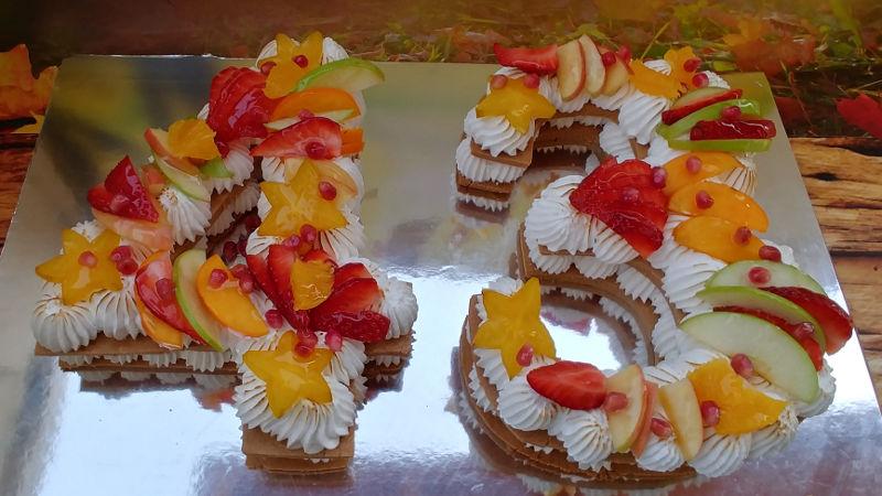 עוגת המספרים והפירות