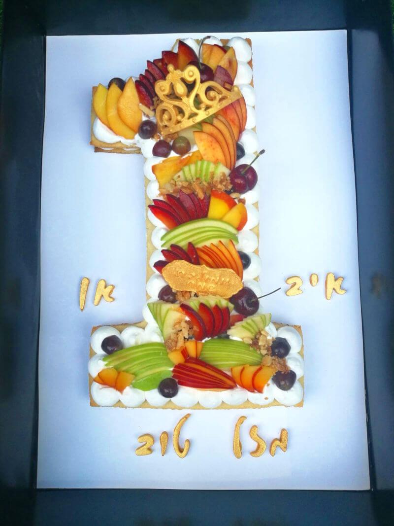 עוגת המספרים לגיל שנה