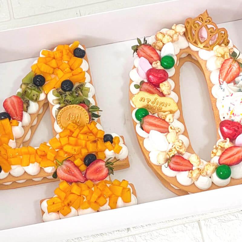 עוגת המספרים לגיל 40