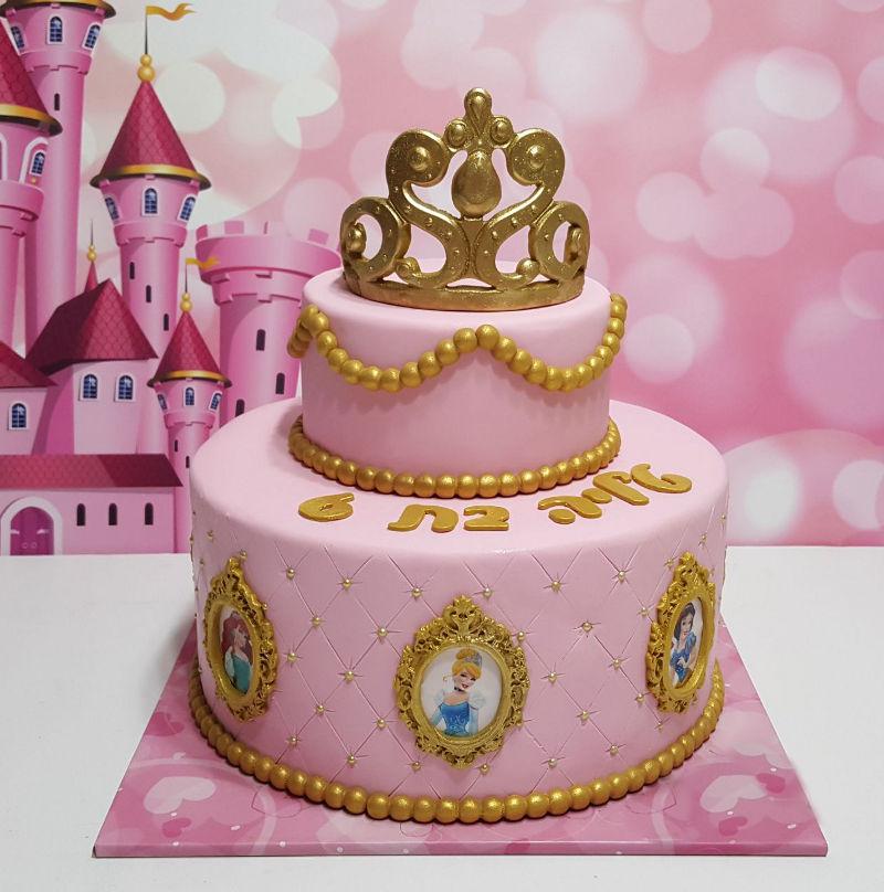 עוגת הנסיכות מבצק סוכר