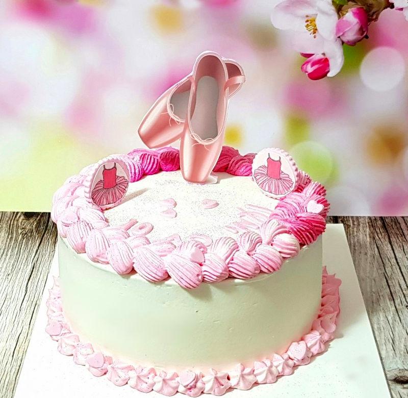 עוגת זילוף לבנות נעלי בלט