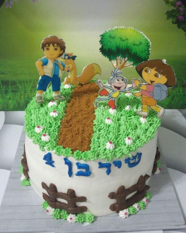 עוגת זילוף דורה ודייגו