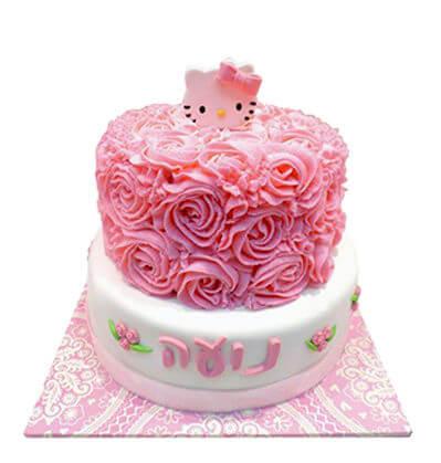 עוגת זילוף הלו קיטי