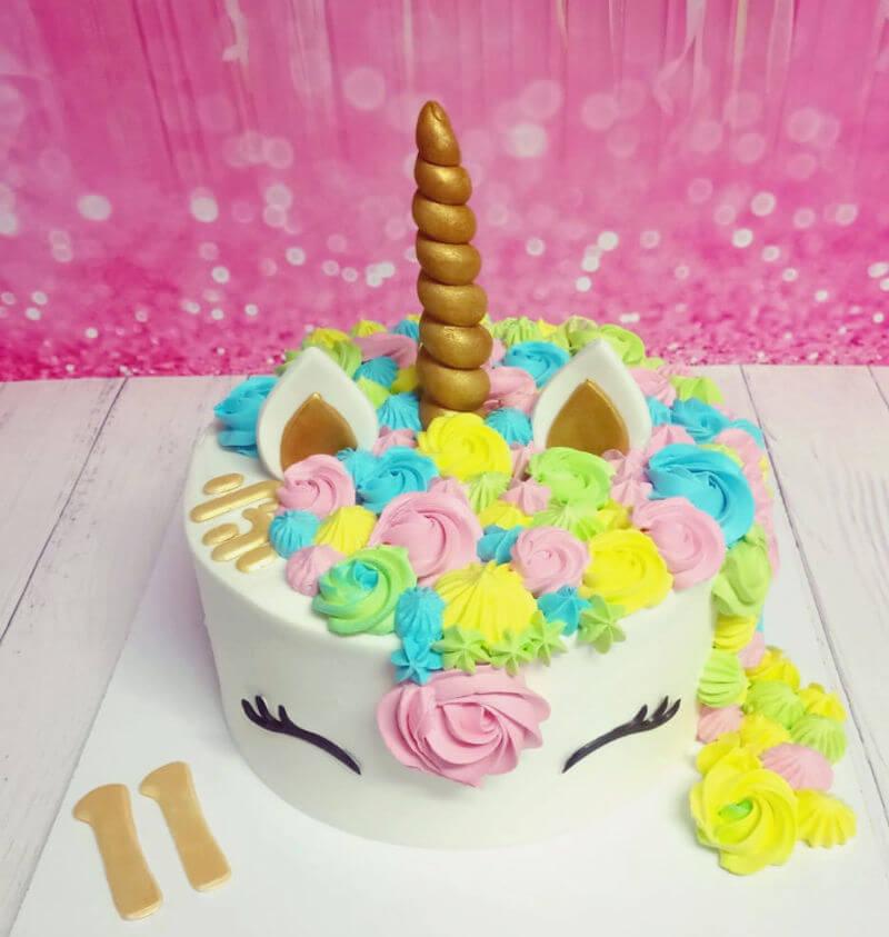 עוגת זילוף חד קרן