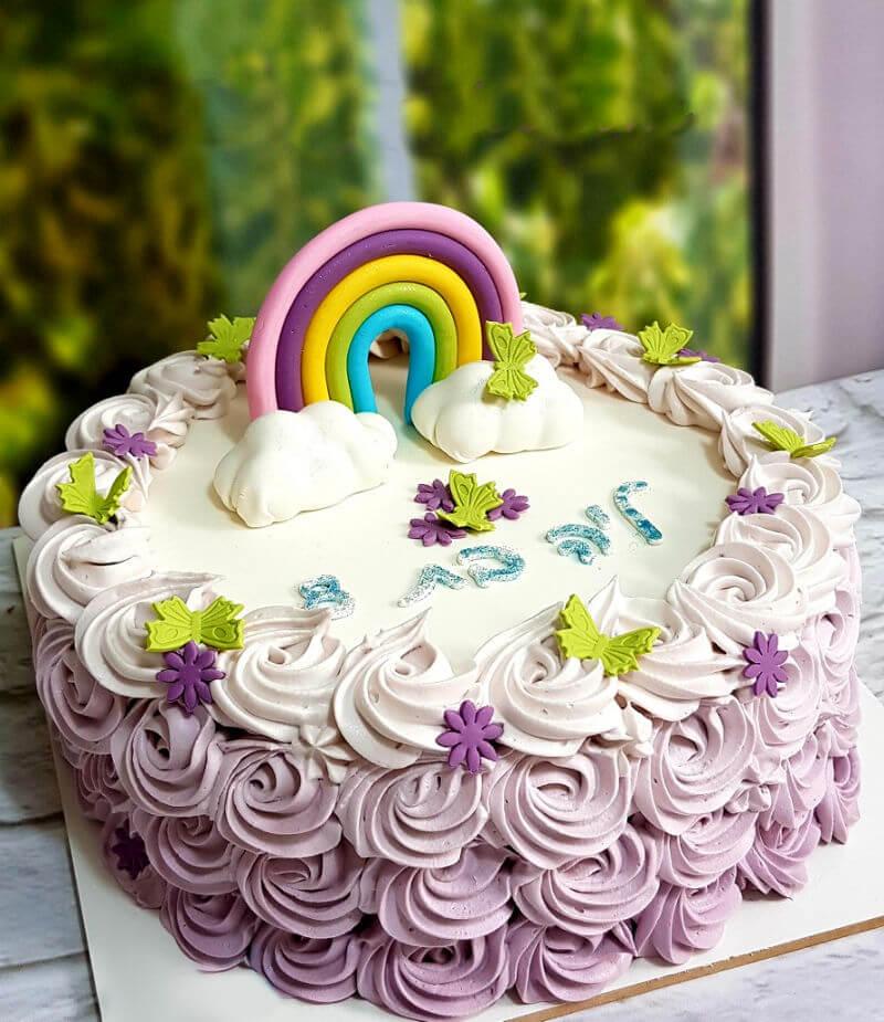 עוגת זילוף לבנות