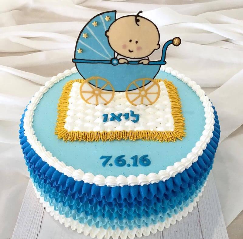 עוגת זילוף לברית