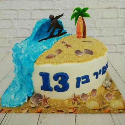 עוגת זילוף בר מצווה לגולש