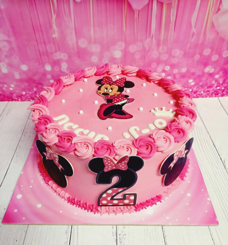 עוגת זילוף בעיצוב מיני מאוס