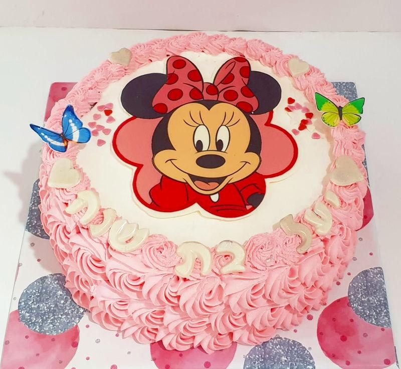 עוגת זילוף מיני מאוס לגיל שנה