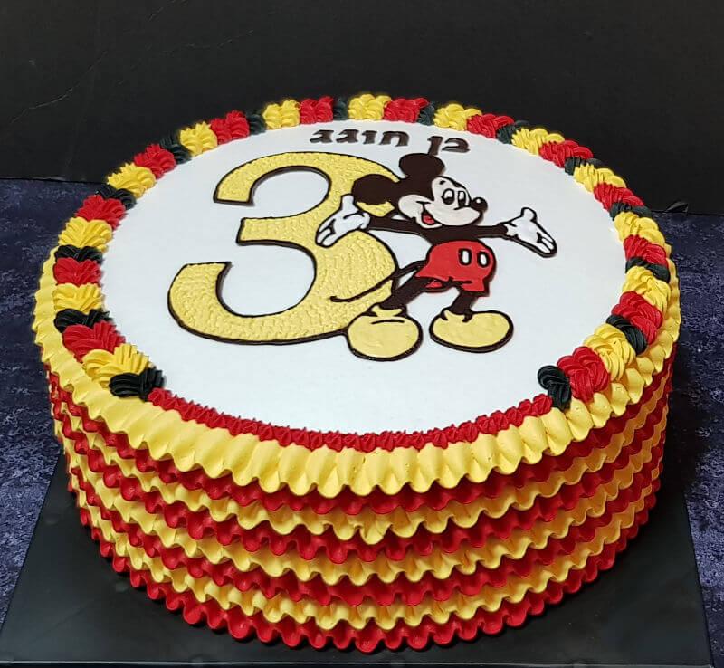 עוגת זילוף מיקי מאוס