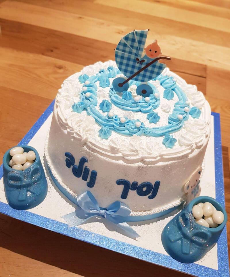 עוגת זילוף מעוצבת לברית