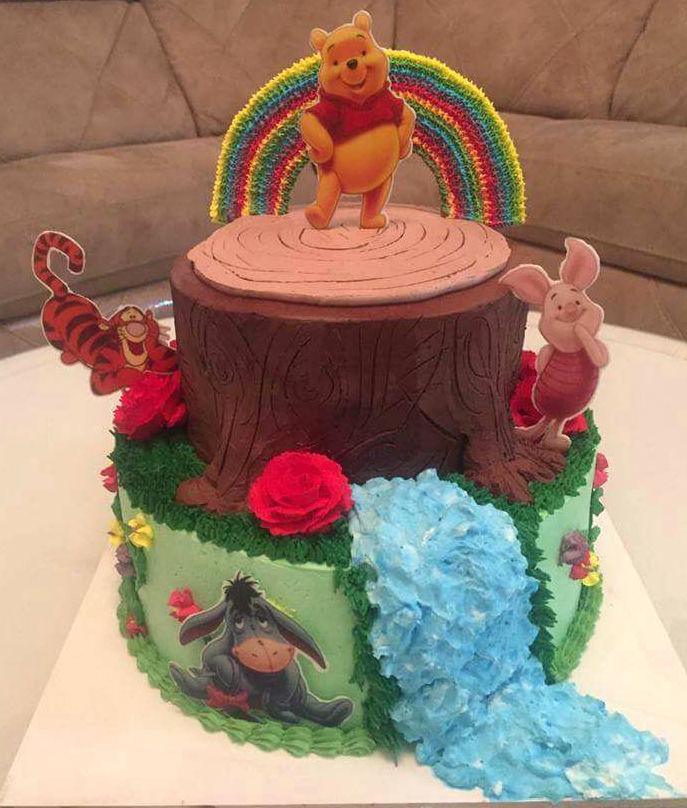 עוגת זילוף פו הדב וחברים