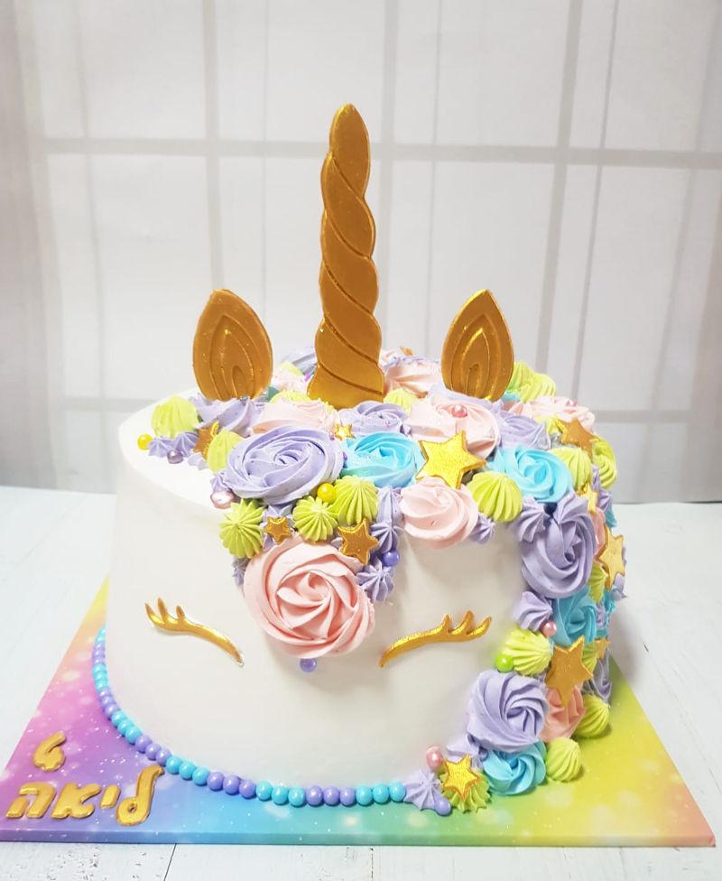 עוגת זילוף של חד קרן
