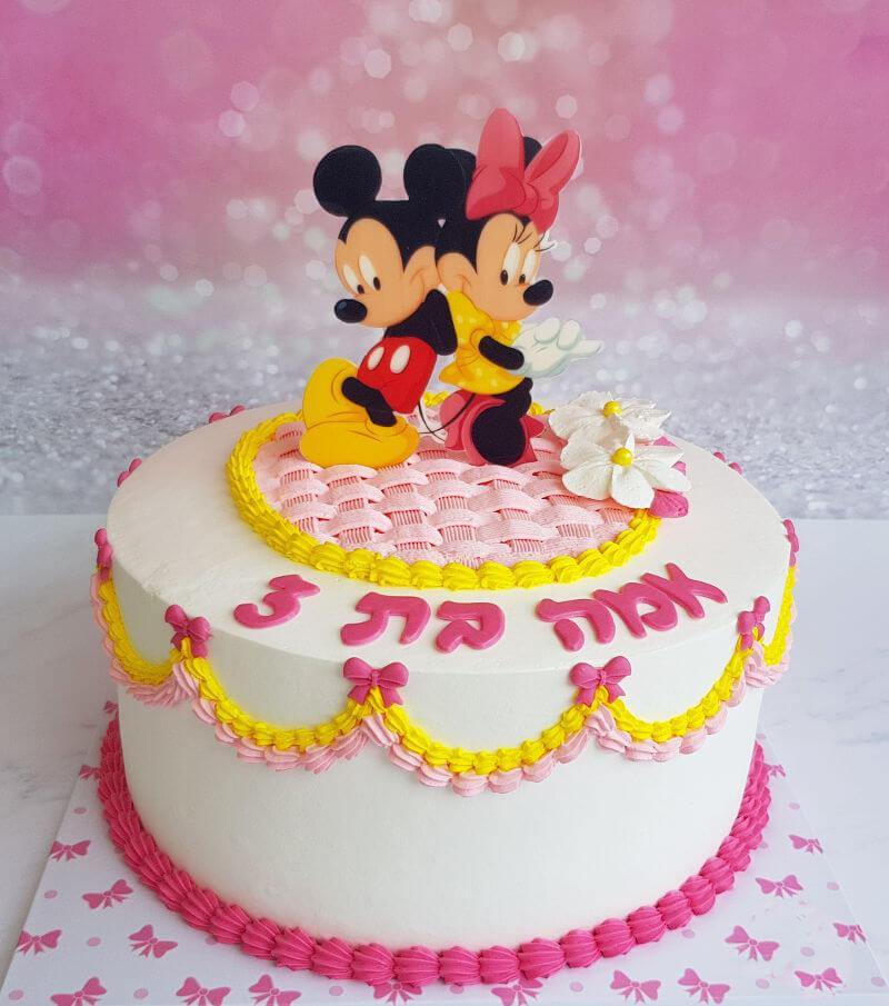 עוגת מיקי מאוס ומיני מאוס