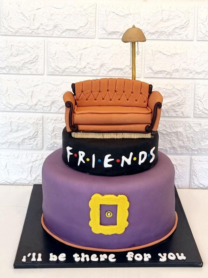 עוגת חברים מבצק סוכר Friends