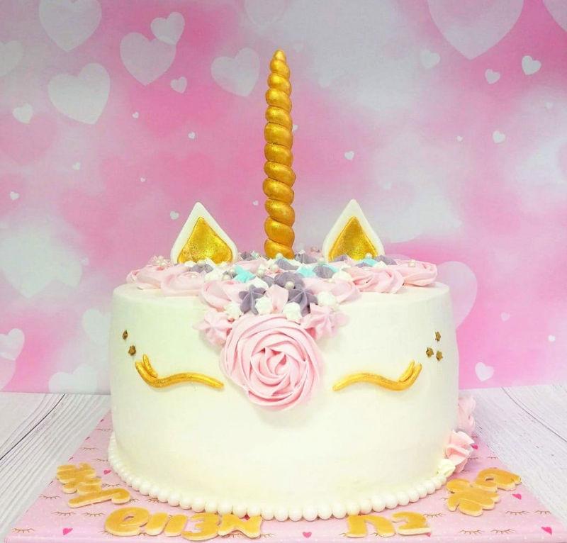 עוגת חד קרן לבת מצווה