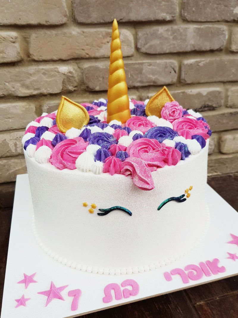 עוגת חד קרן מעוצבת