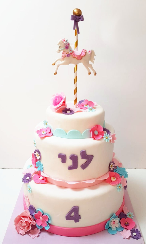עוגת חד קרן קרוסלה