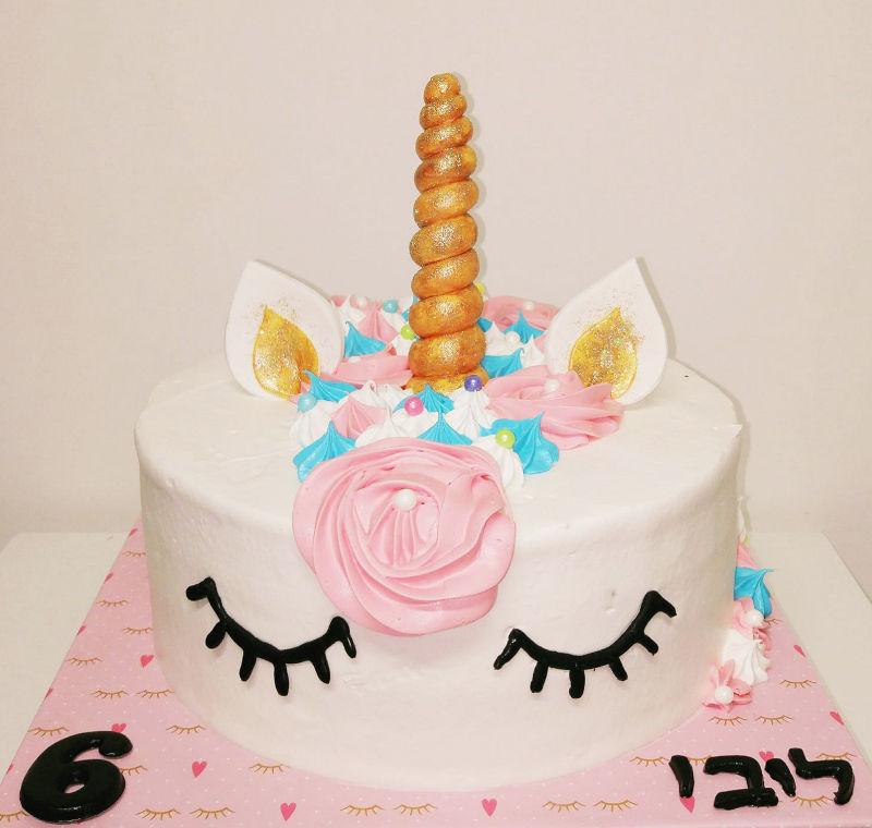 עוגת חד קרן  ליום הולדת בנות