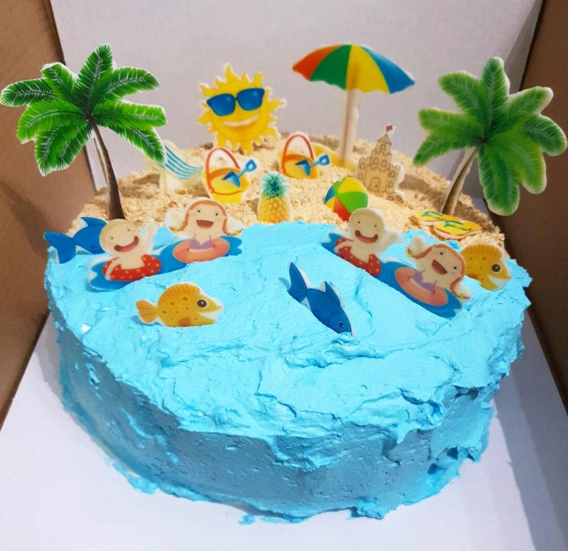 עוגת חופשת נעימה בים