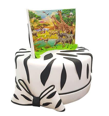עוגת חיות בספארי