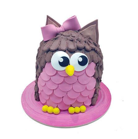 עוגת חיות ינשוף תלת מימד