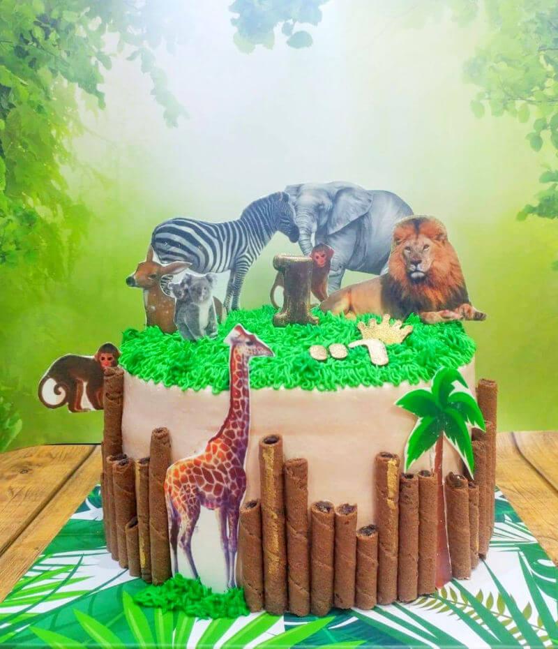 עוגת חיות לבן