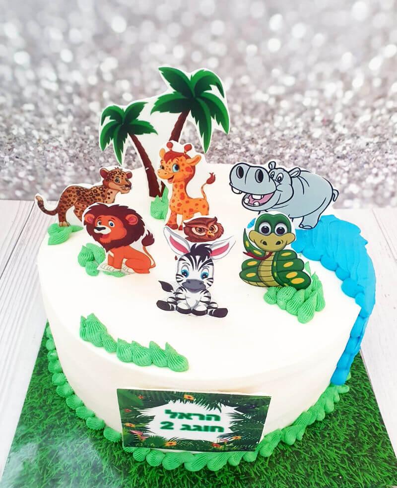 עוגת חיות לקטנטנים