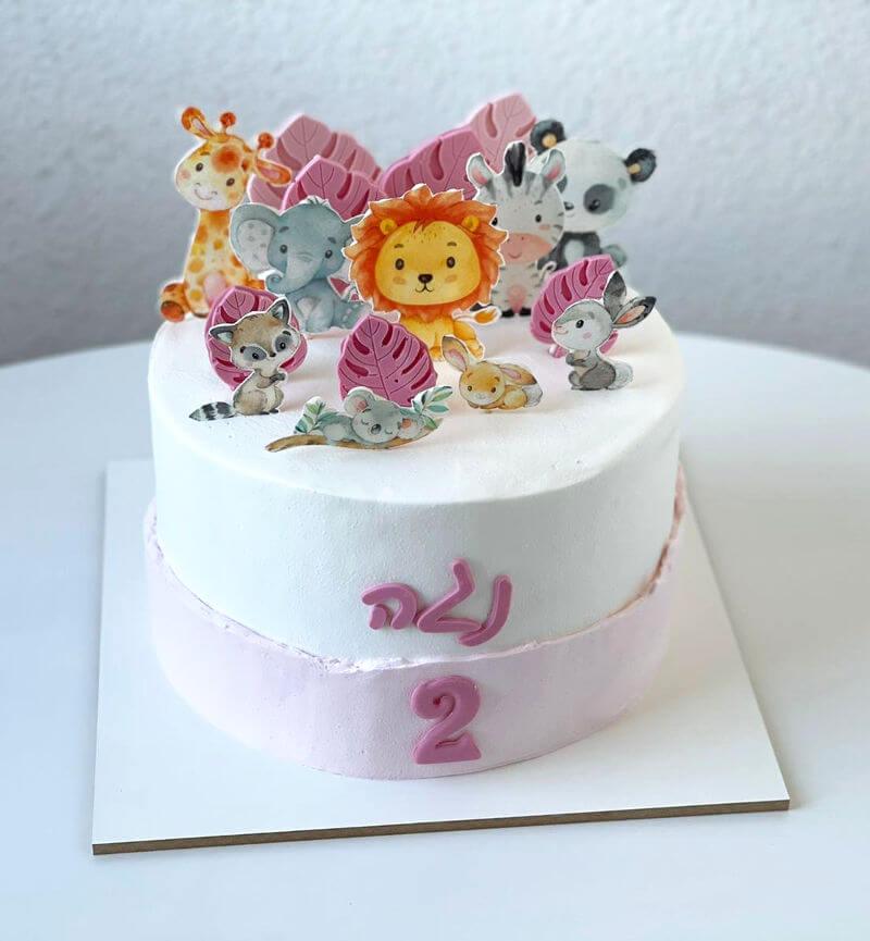 עוגת חיות מעוצבת לבת