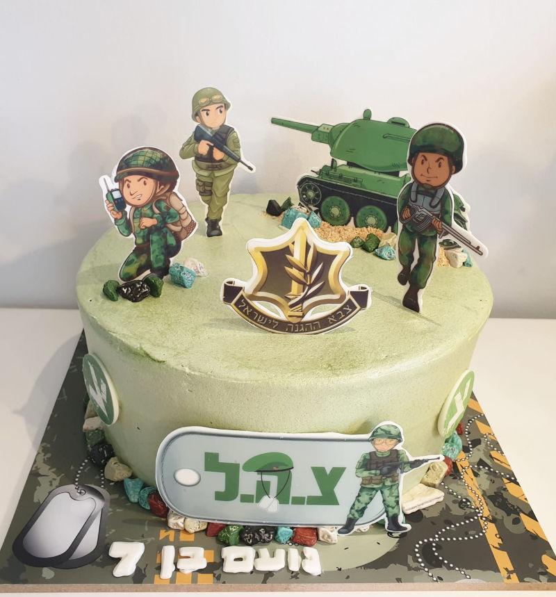 עוגת חיילים ליום הולדת