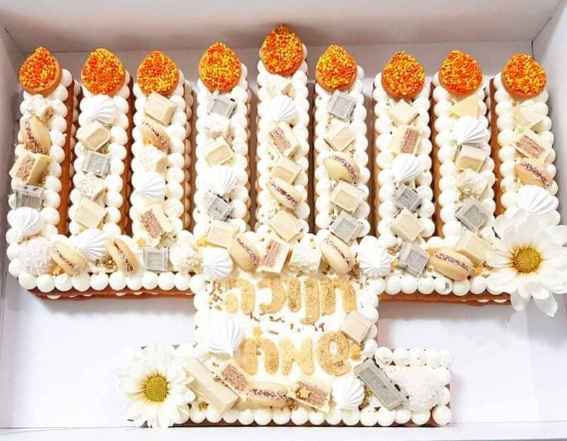 עוגת חנוכה מעוצבת