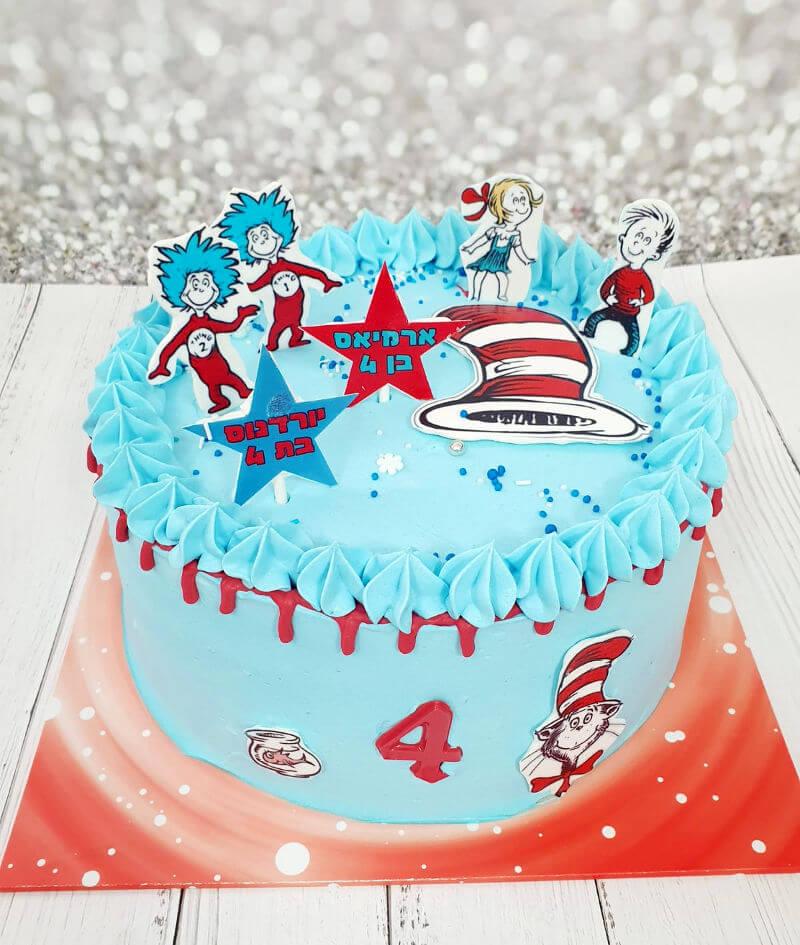 עוגת חתול תעלול ליום הולדת