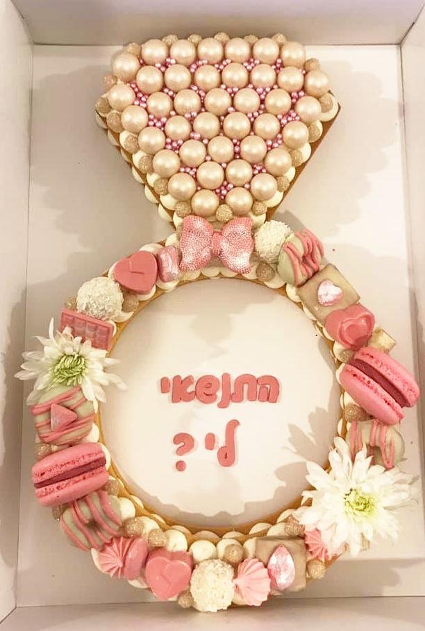עוגת חתונה בצורת טבעת