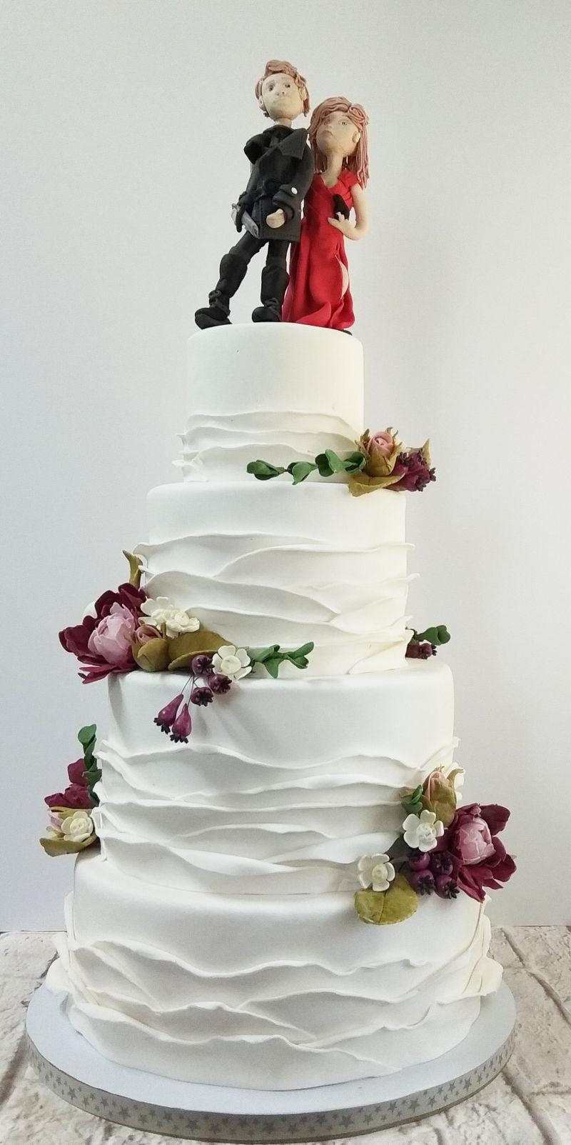 עוגת חתונה הומוריסטית וכשרה