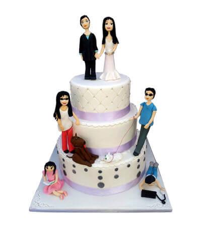 עוגת חתונה מבצק סוכר