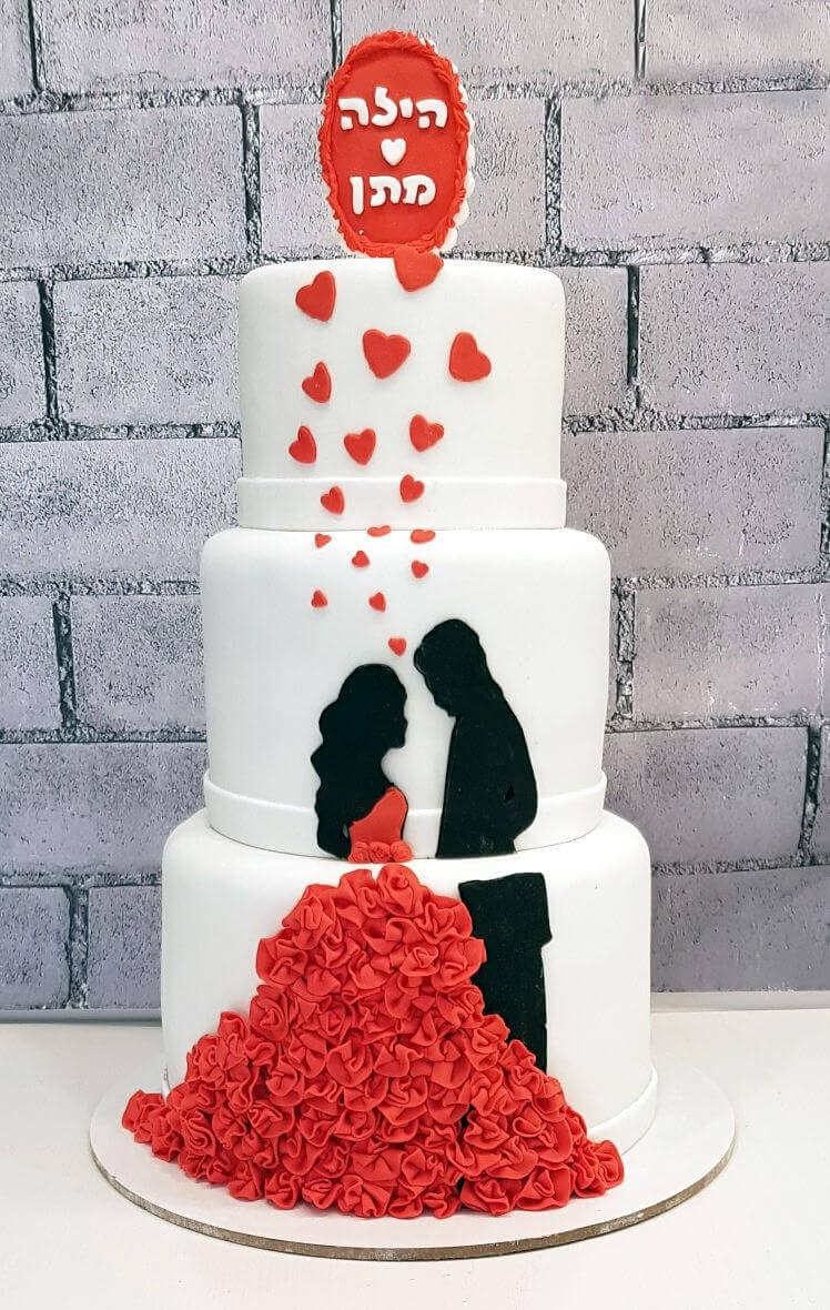 עוגת חתונה מדהימה מבצק סוכר