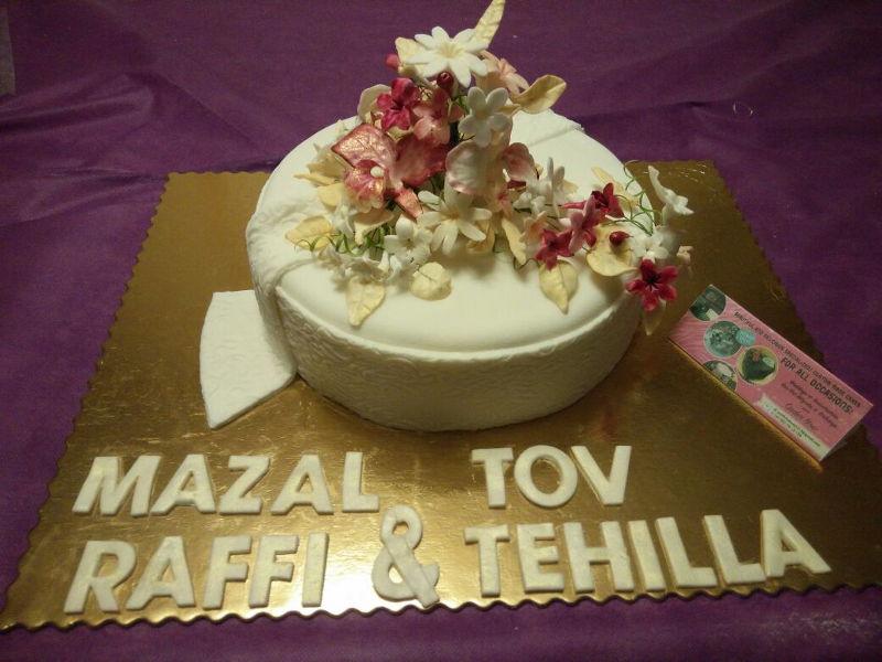 עוגת חתונה פרחונית