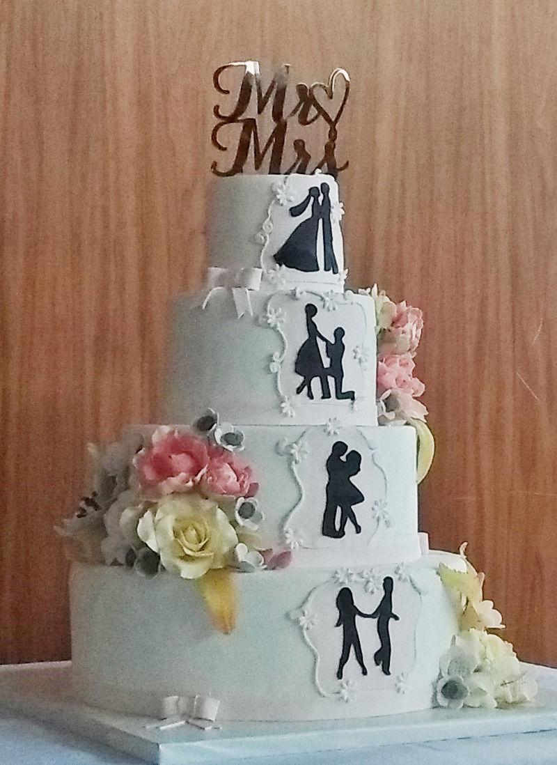 עוגת חתונה בקומות עם תעודת כשרות