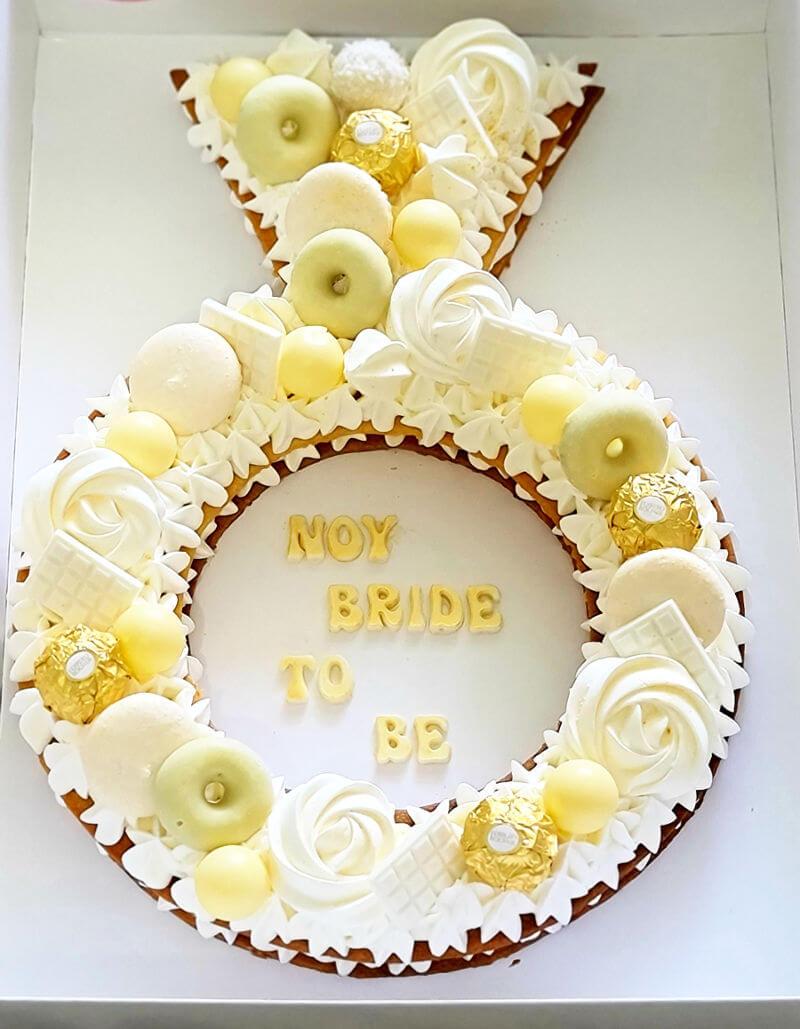 עוגת טבעת אירוסין מבצק פריך