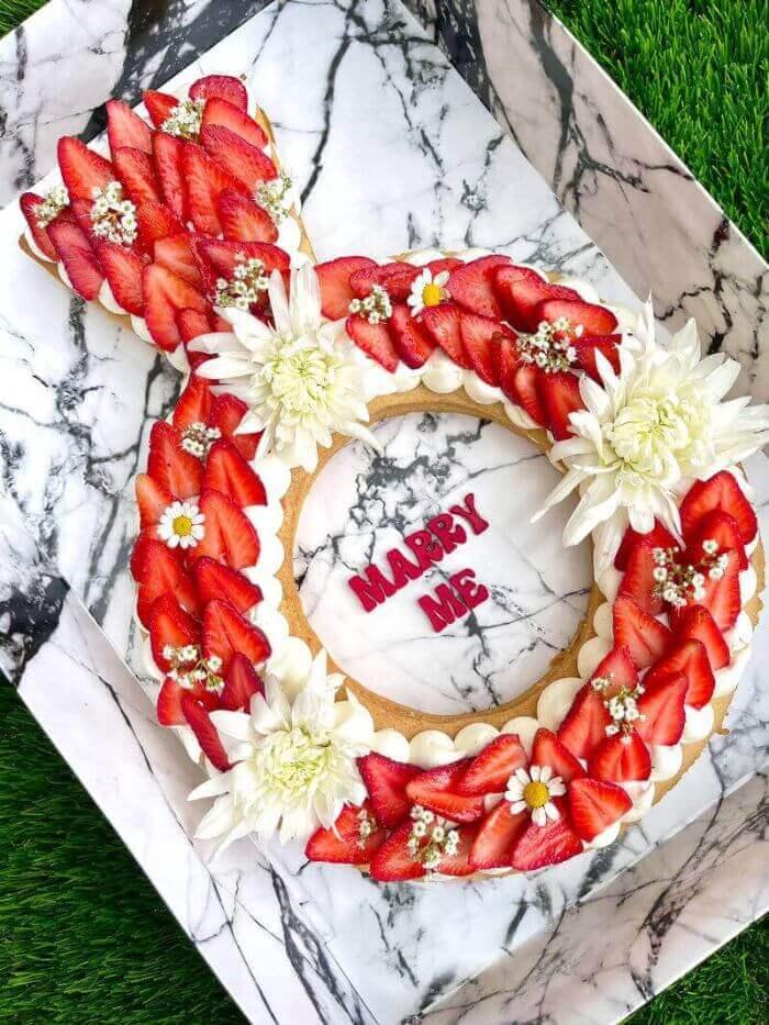 עוגת טבעת הצעת נישואין