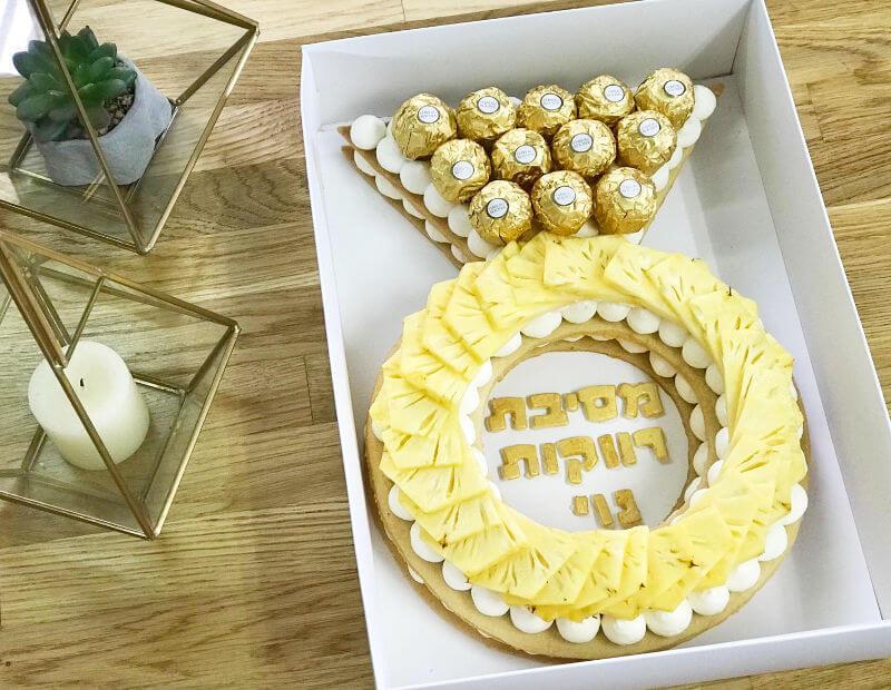עוגת טבעת לחתונה