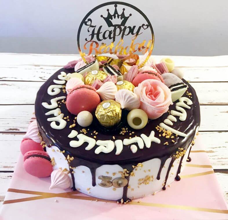 עוגת טפטופים וממתקים לגיל 30