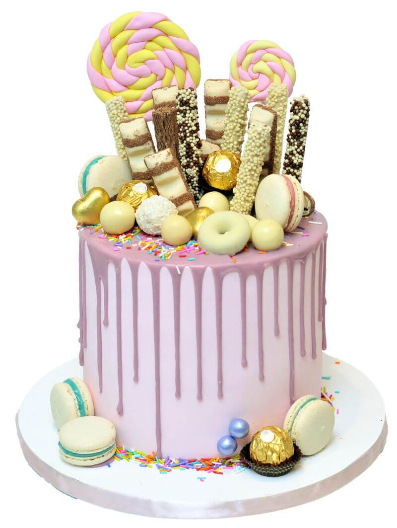 עוגת טפטופים וממתקים