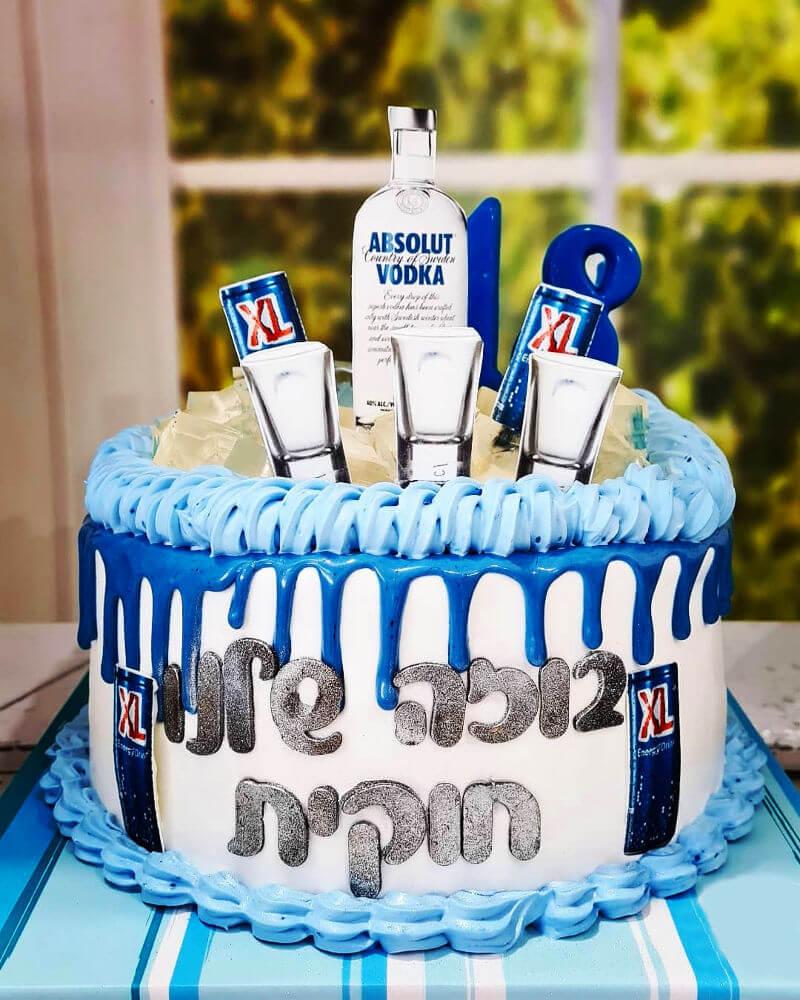 עוגת טפטופים לגיל 18