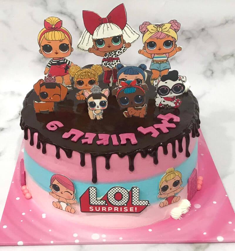 עוגת טפטופים לול LOL DRIP CAKE